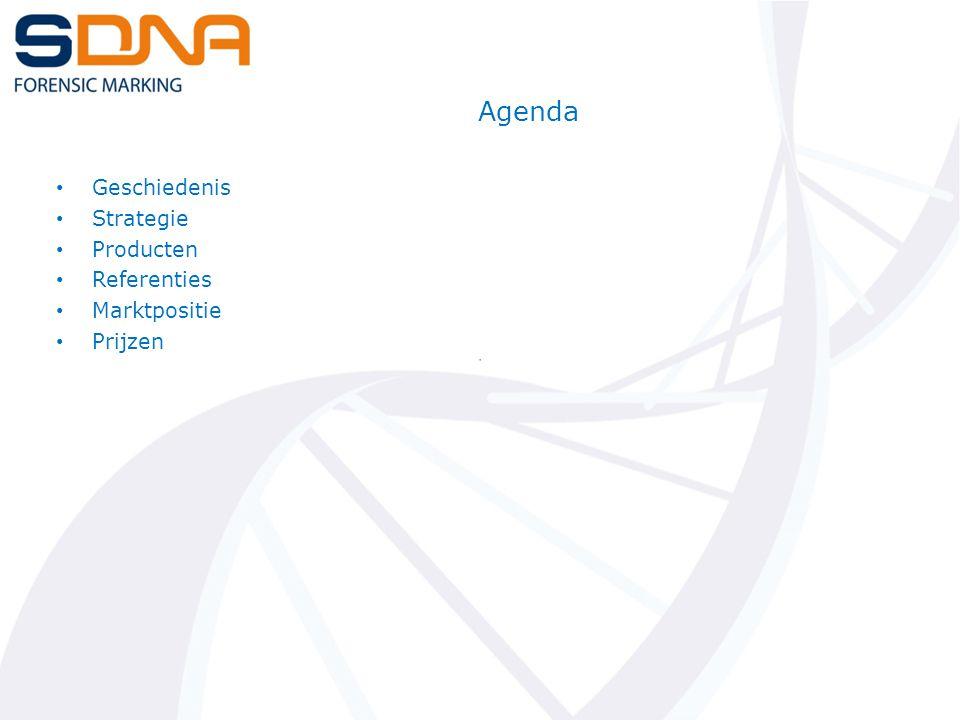 Agenda Geschiedenis Strategie Producten Referenties Marktpositie Prijzen