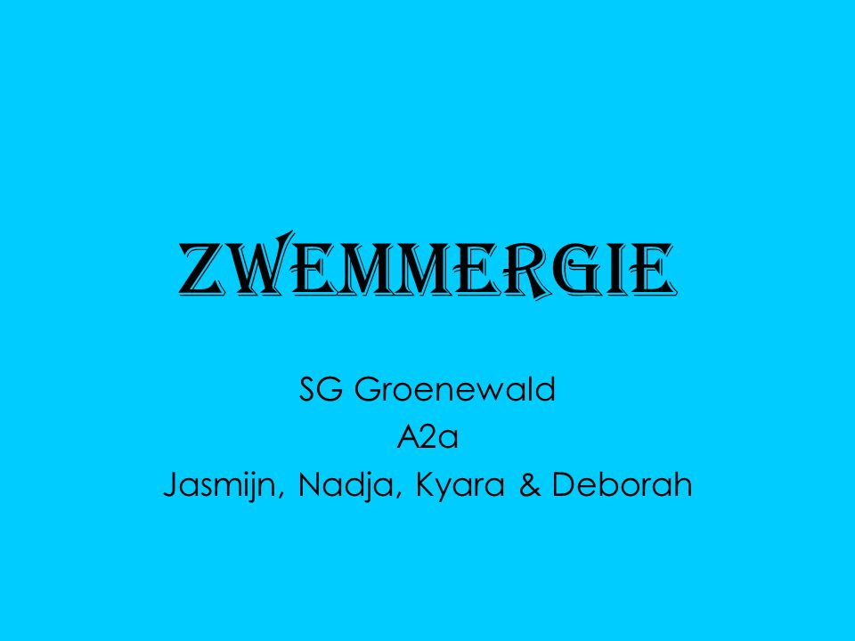 Zwemmergie SG Groenewald A2a Jasmijn, Nadja, Kyara & Deborah
