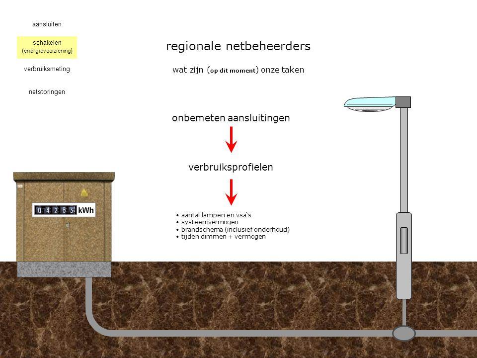 regionale netbeheerders hoe zijn wij ontstaanwat zijn ( op dit moment ) onze taken aansluiten schakelen verbruiksmeting netstoringen ( energievoorziening )