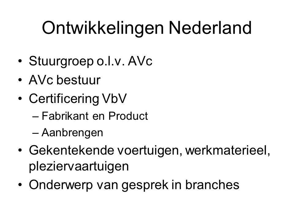 Ontwikkelingen EU International Expertgroup for WOVM (Whole Of Vehicle Marking) Voorstel aan EU: microdots = voertuigeis