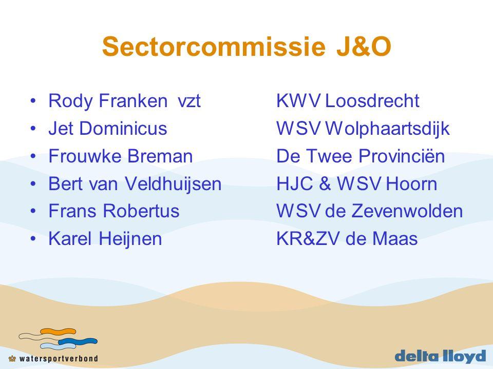 Sectorcommissie J&O Rody FrankenvztKWV Loosdrecht Jet DominicusWSV Wolphaartsdijk Frouwke BremanDe Twee Provinciën Bert van VeldhuijsenHJC & WSV Hoorn