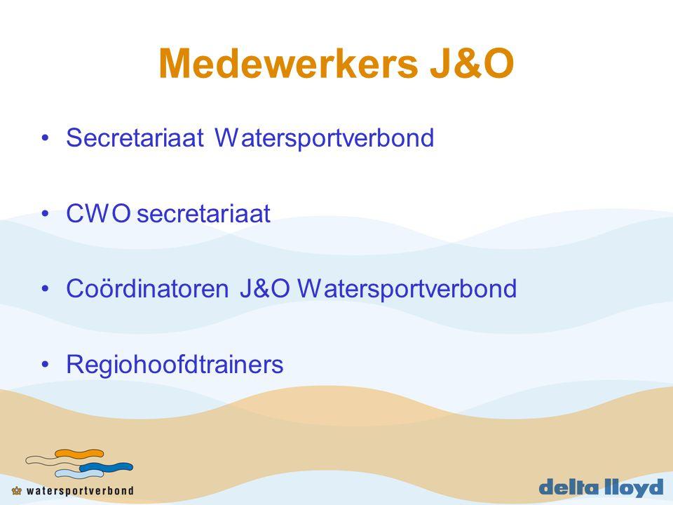 Medewerkers J&O Secretariaat Watersportverbond CWO secretariaat Coördinatoren J&O Watersportverbond Regiohoofdtrainers