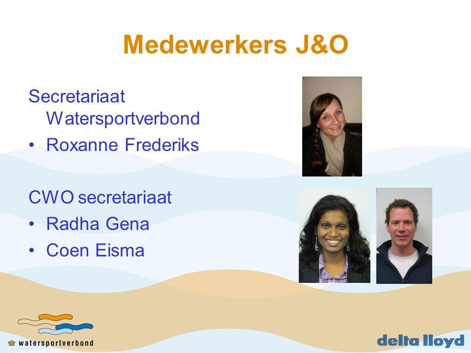 Medewerkers J&O Secretariaat Watersportverbond Roxanne Frederiks CWO secretariaat Radha Gena Coen Eisma