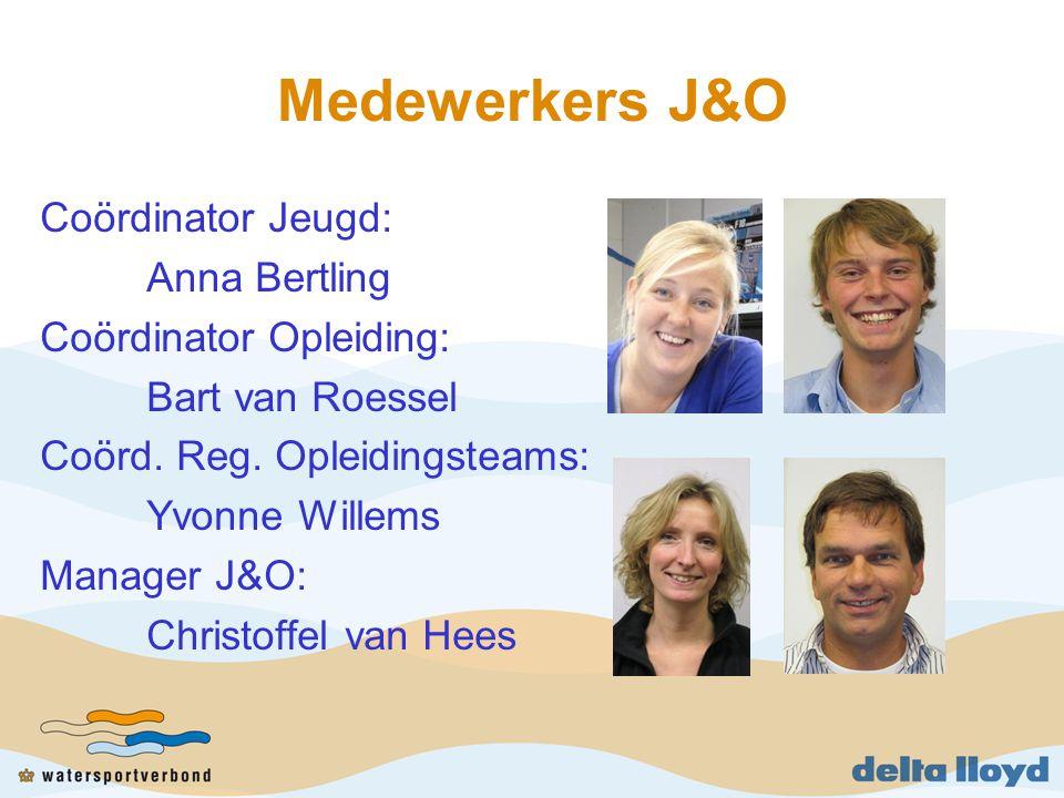 Medewerkers J&O Coördinator Jeugd: Anna Bertling Coördinator Opleiding: Bart van Roessel Coörd.
