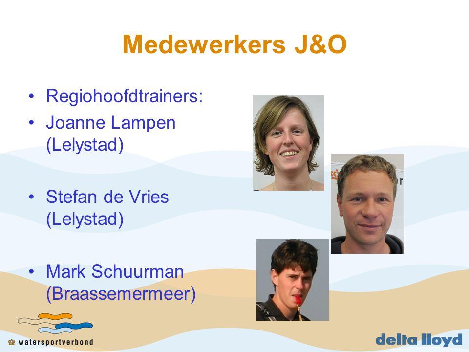 Medewerkers J&O Regiohoofdtrainers: Joanne Lampen (Lelystad) Stefan de Vries (Lelystad) Mark Schuurman (Braassemermeer)