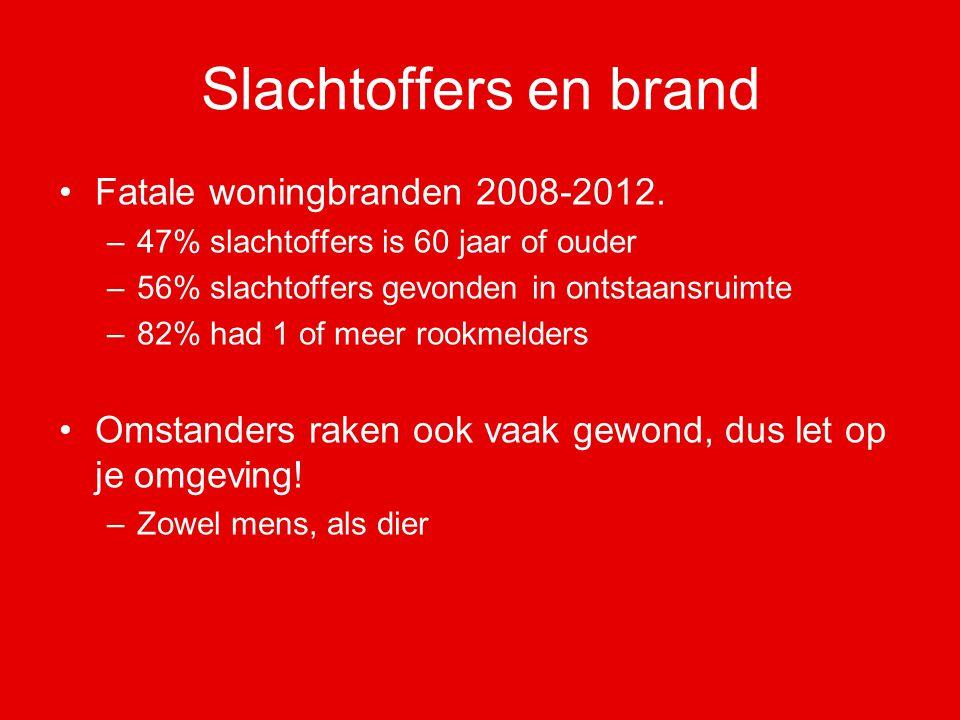 Slachtoffers en brand Fatale woningbranden 2008-2012.