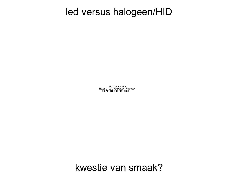 led versus halogeen/HID kwestie van smaak?