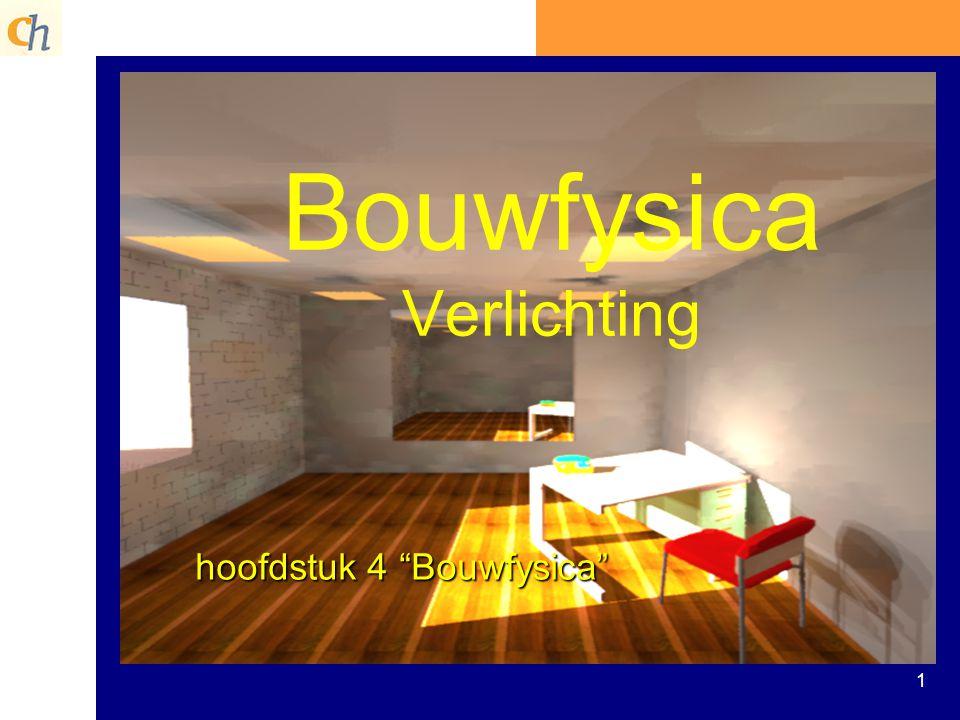 """1 Bouwfysica Verlichting hoofdstuk 4 """"Bouwfysica"""""""
