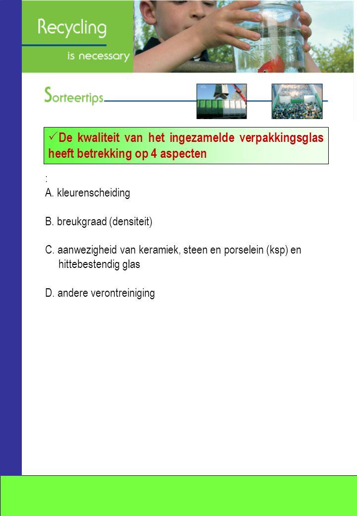 : A. kleurenscheiding B. breukgraad (densiteit) C.