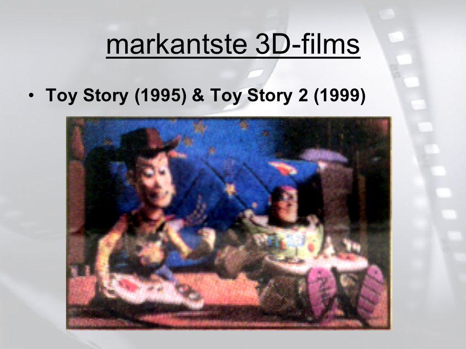markantste 3D-films Toy Story (1995) & Toy Story 2 (1999)