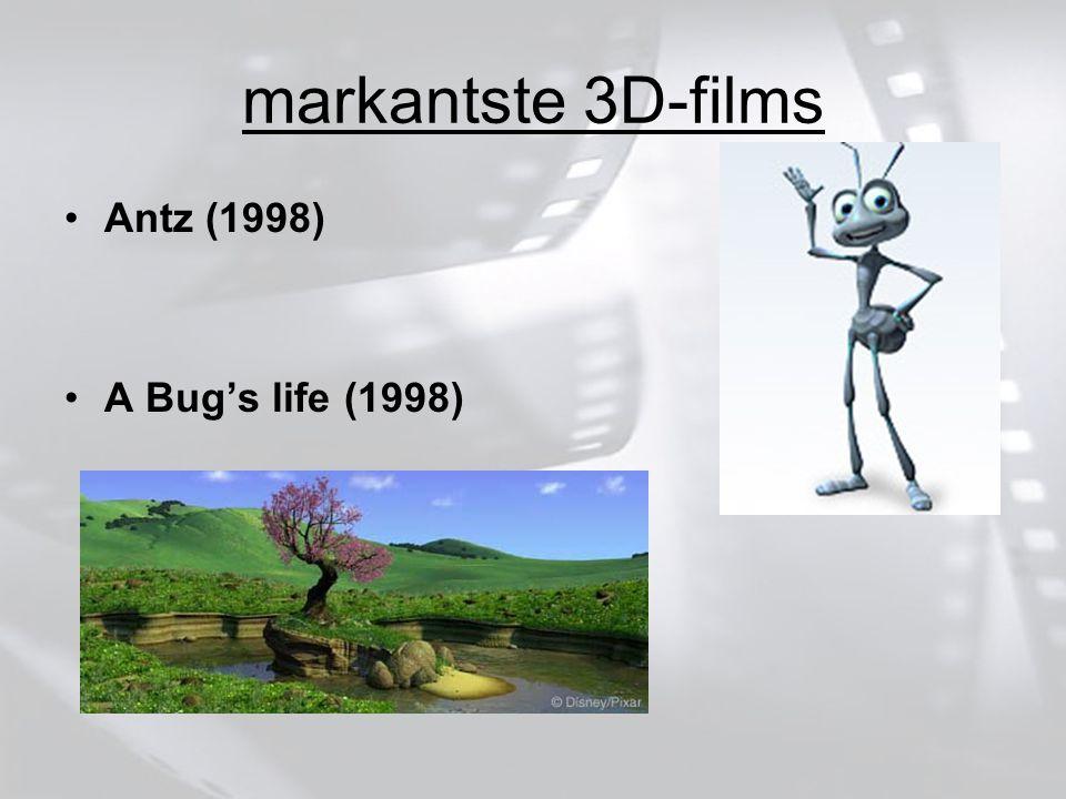 markantste 3D-films Antz (1998) A Bug's life (1998)