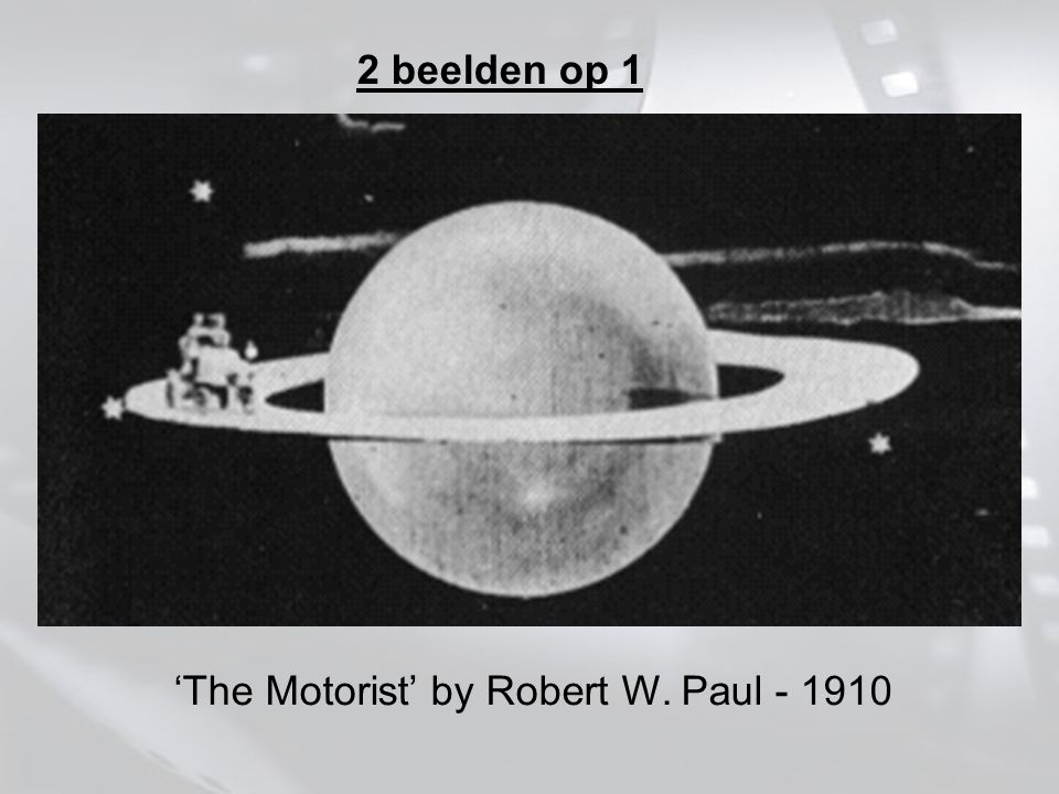 2 beelden op 1 'The Motorist' by Robert W. Paul - 1910