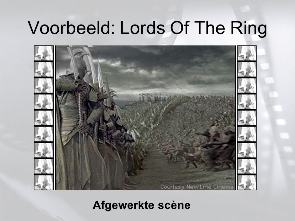 Voorbeeld: Lords Of The Ring Afgewerkte scène