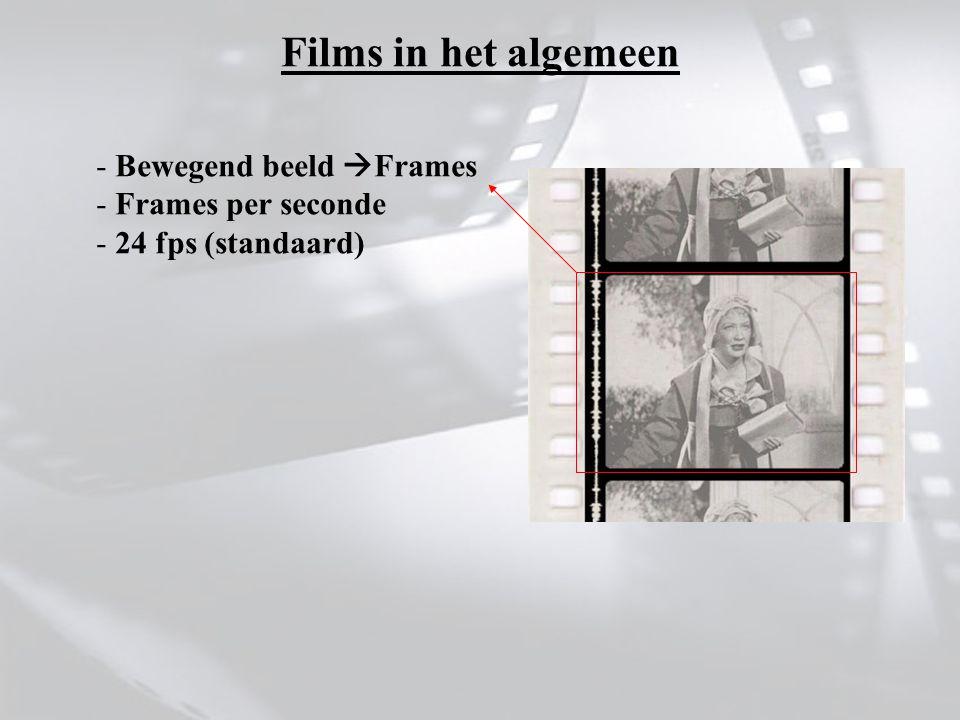 - Bewegend beeld  Frames - Frames per seconde - 24 fps (standaard)