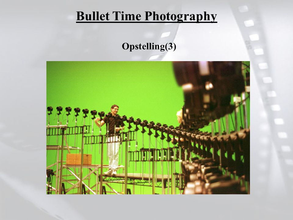 Opstelling(3) Bullet Time Photography