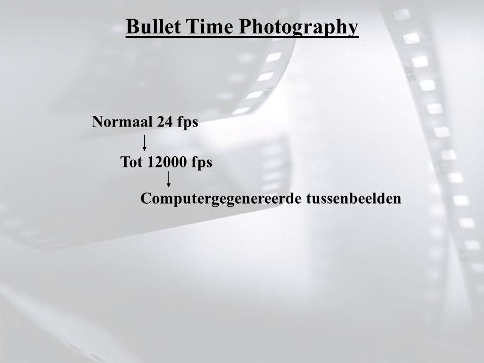 Normaal 24 fps Tot 12000 fps Computergegenereerde tussenbeelden