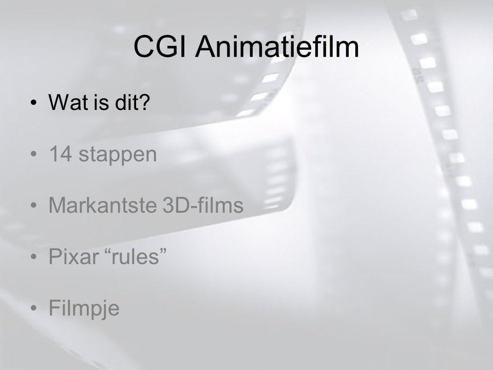 CGI Animatiefilm Wat is dit 14 stappen Markantste 3D-films Pixar rules Filmpje