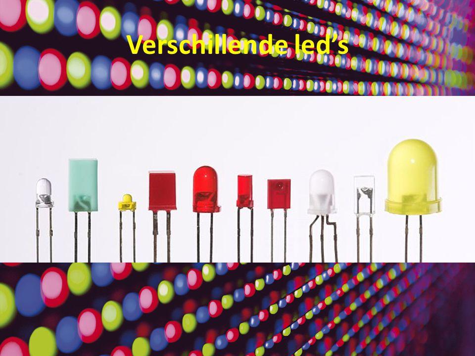 Led schakeling Draad (geleider) Batterij (stroombron) Led (omzetter) weerstand Het is een voorwerp dat dient om elektrische stroom beperkt door te laten.