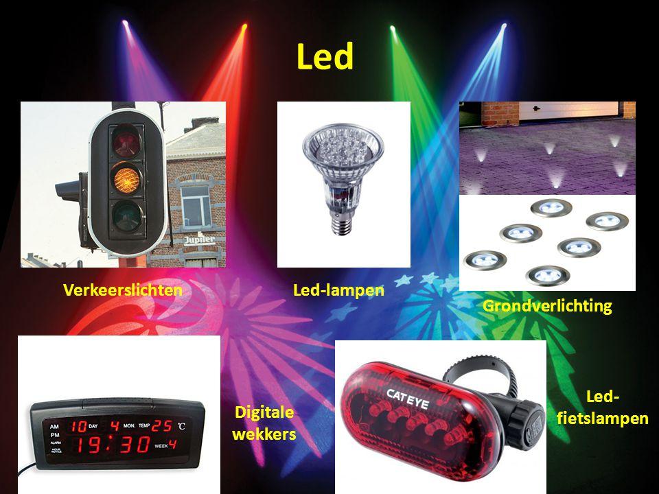 Led VerkeerslichtenLed-lampen Grondverlichting Digitale wekkers Led- fietslampen