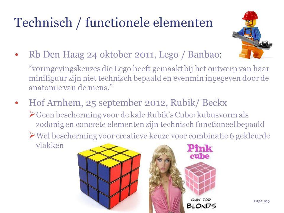 """Page 109 Technisch / functionele elementen Rb Den Haag 24 oktober 2011, Lego / Banbao: """"vormgevingskeuzes die Lego heeft gemaakt bij het ontwerp van h"""