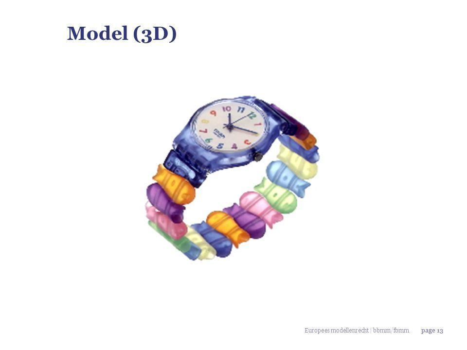 Europees modellenrecht | bbmm/fbmmpage 13 Model (3D)