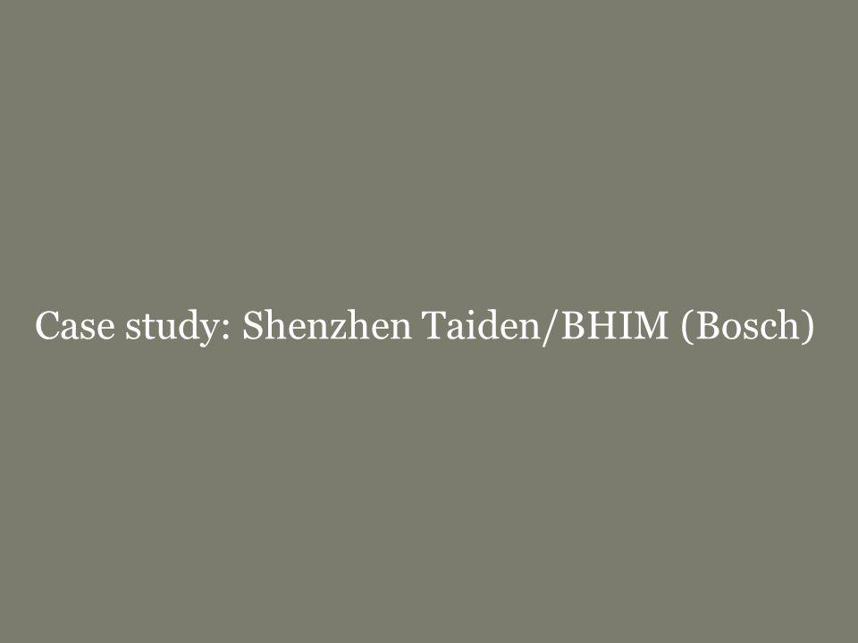 Europees modellenrecht | bbmm/fbmmpage 42 Case study: Shenzhen Taiden/BHIM (Bosch)