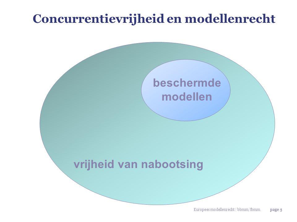Europees modellenrecht | bbmm/fbmmpage 5 Concurrentievrijheid en modellenrecht vrijheid van nabootsing beschermde modellen