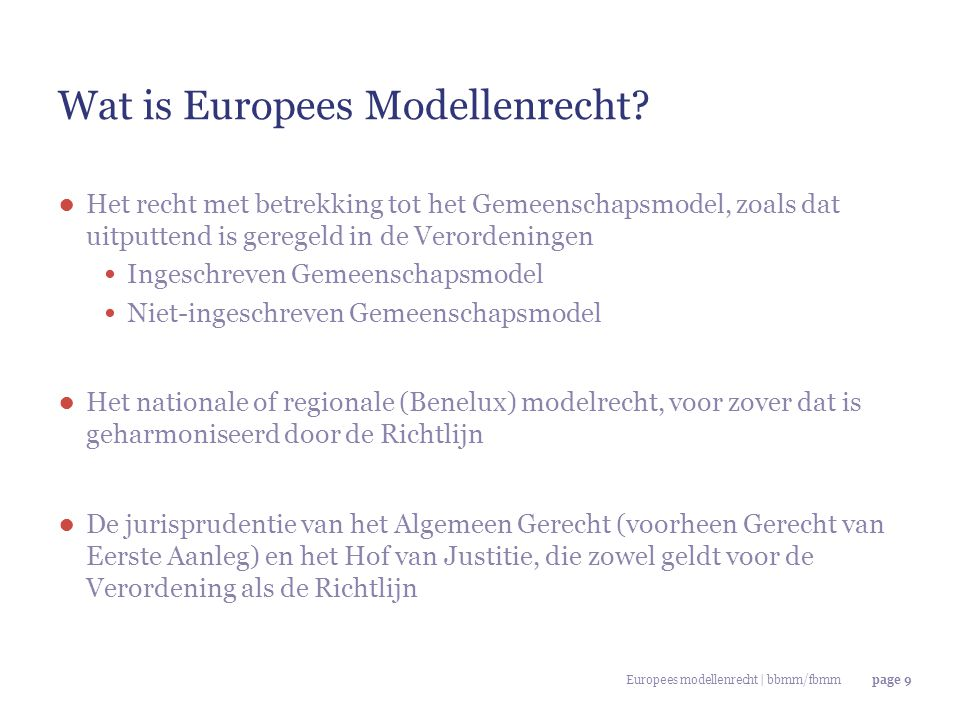 Page 40 EU Gerecht 9 oktober 2011, Kwang Yang Motors/Honda ● bestaande vrijheid moet echter ook worden gebruikt 'The greater the designer's freedom in developing the challenged design, the less likely it is that minor differences between the designs at issue will be sufficient to produce a different overall impression on an informed user.' 'Conversely, the more the designer's freedom in developing the challenged design is restricted, the more likely minor differences between the designs at issue will be sufficient to produce a different overall impression on an informed user.' 'Therefore, if the designer enjoys a high degree of freedom in developing a design, that reinforces the conclusion that the designs which do not have significant differences produce the same overall impression on an informed user.'
