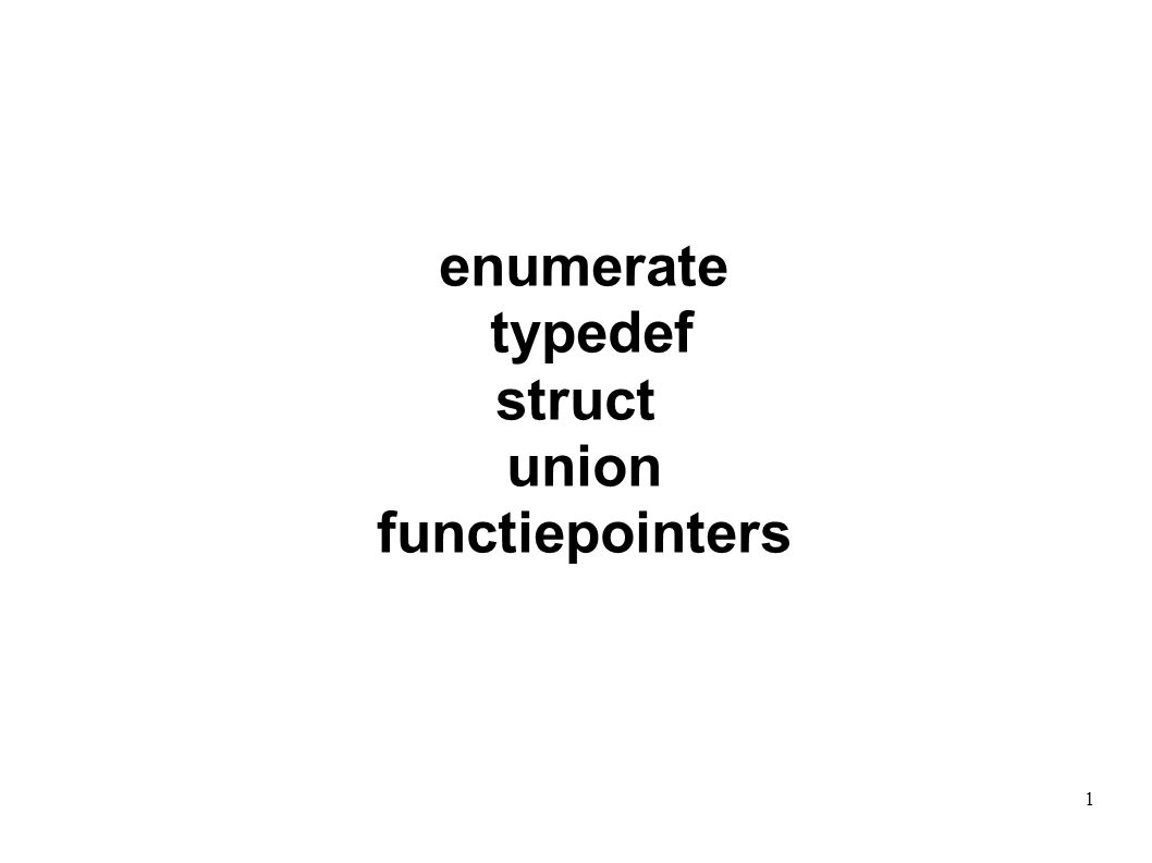 enumerate typedef struct union functiepointers 1