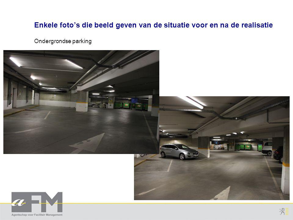 Enkele foto's die beeld geven van de situatie voor en na de realisatie Ondergrondse parking