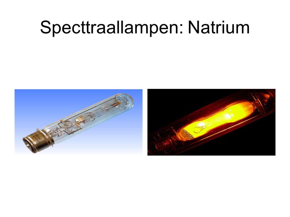 Specttraallampen: Natrium