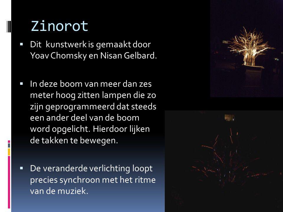 Zinorot  Dit kunstwerk is gemaakt door Yoav Chomsky en Nisan Gelbard.