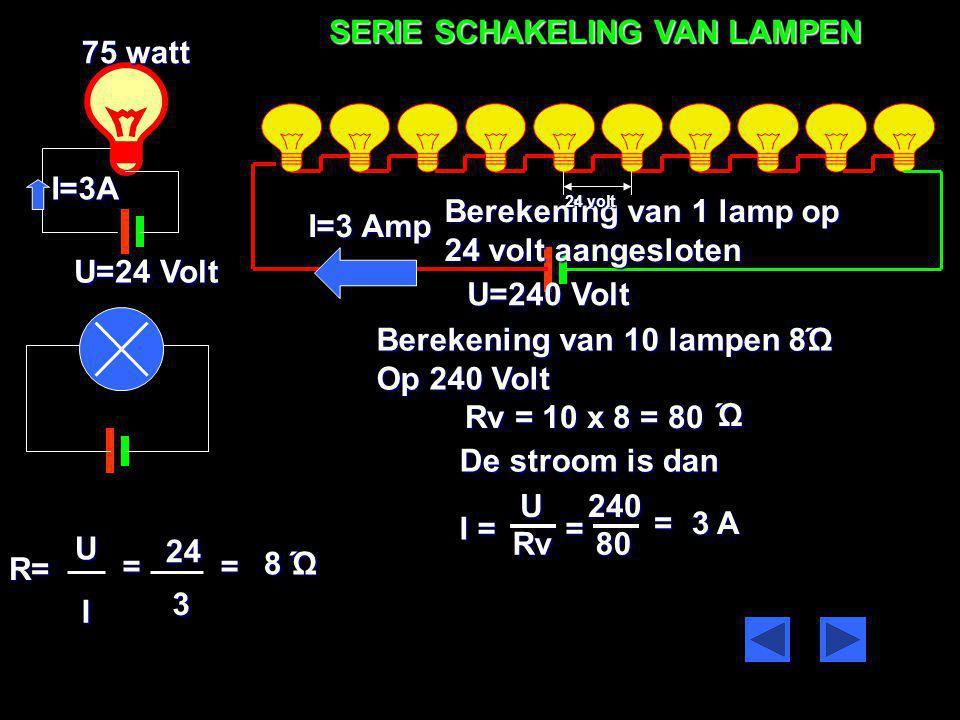 230V I = 15 A De lengte van de kabel is 40 meter 2,5 mm SPANNINGSVERLIES 2 R= 0,56 Ώ Het spannings verlies is dan. U= I X R U = 15 x 0,56 = 8,4 volt U
