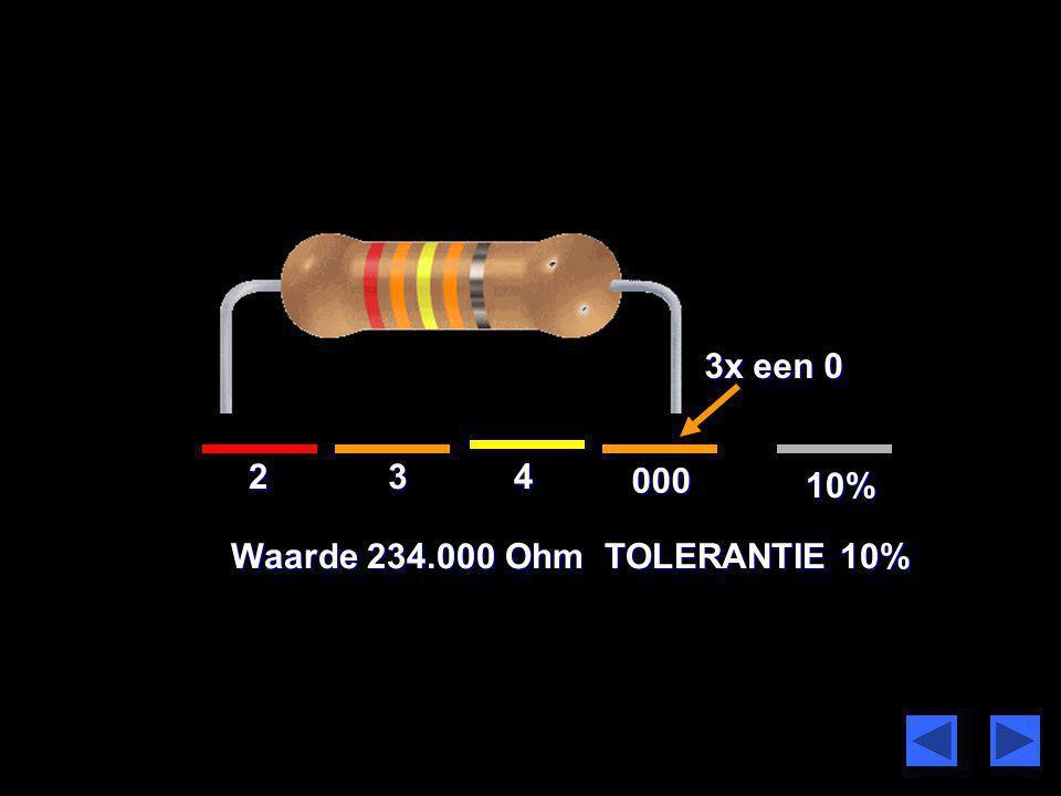 1 23 15% Waarde 1230 Ohm TOLERANTIE 5%