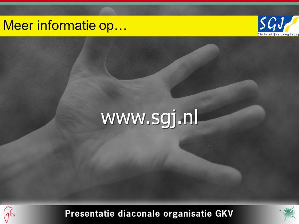 Meer informatie op… www.sgj.nl www.sgj.nl