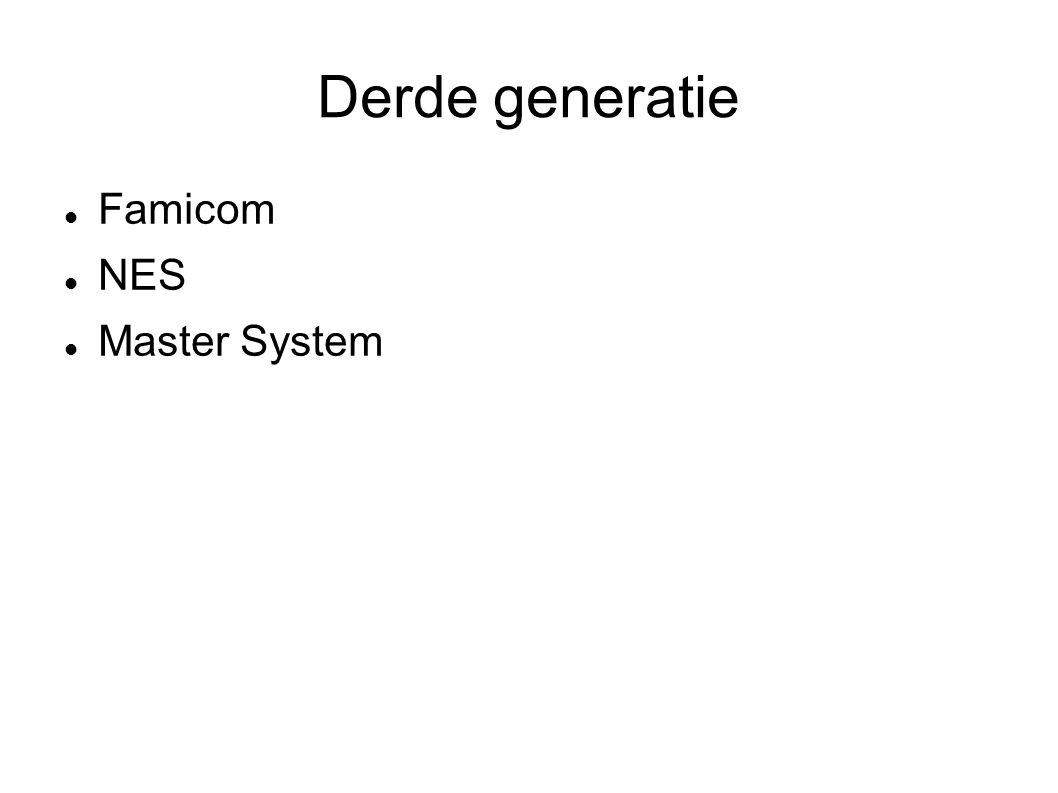 Derde generatie Famicom NES Master System