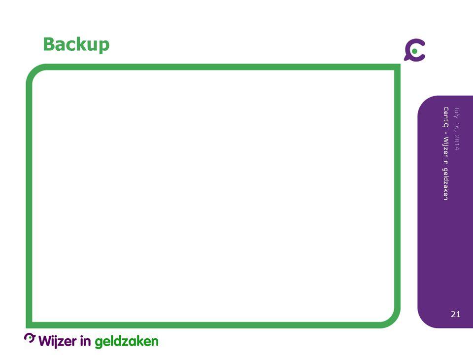 Backup July 16, 2014 CentiQ - Wijzer in geldzaken 21