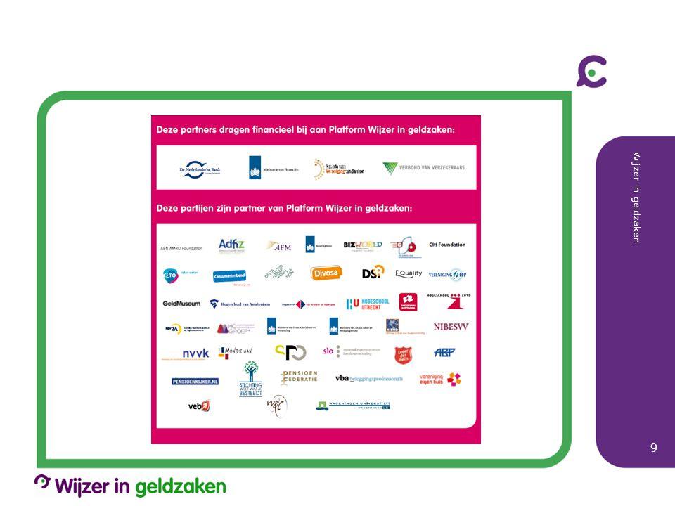 Kernprojecten 2012 Wijzer in geldzaken 10