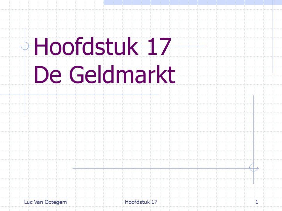 Luc Van OotegemHoofdstuk 171 Hoofdstuk 17 De Geldmarkt