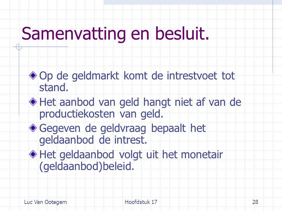 Luc Van OotegemHoofdstuk 1728 Samenvatting en besluit.