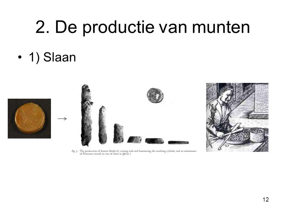2. De productie van munten 1) Slaan 12