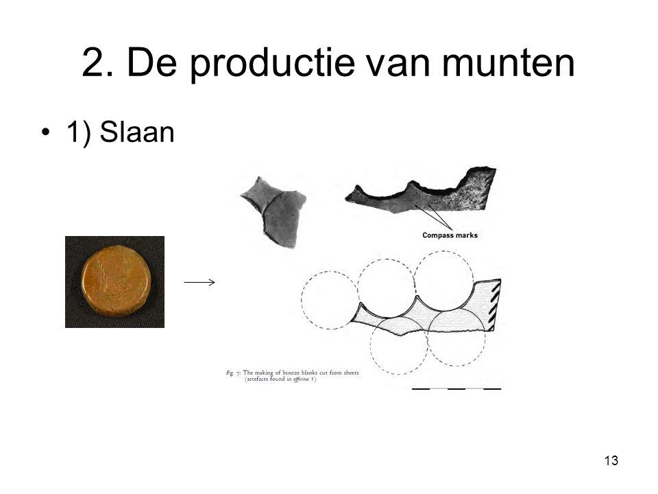 2. De productie van munten 1) Slaan 13