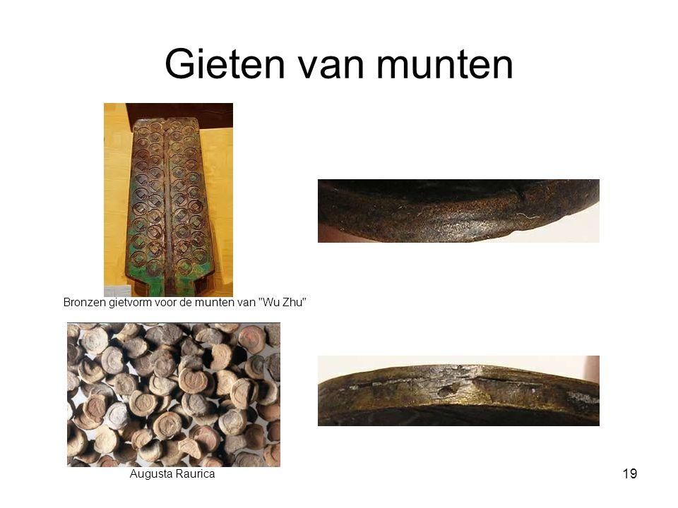 Gieten van munten Augusta Raurica Bronzen gietvorm voor de munten van