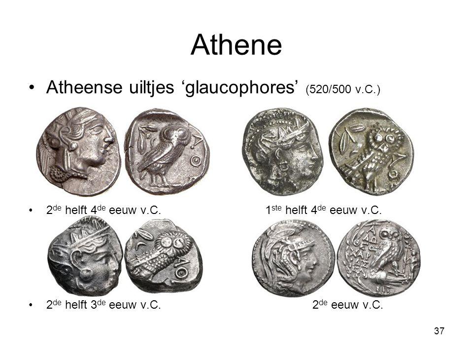 Athene Atheense uiltjes 'glaucophores' (520/500 v.C.) 2 de helft 4 de eeuw v.C.1 ste helft 4 de eeuw v.C. 2 de helft 3 de eeuw v.C. 2 de eeuw v.C. 37