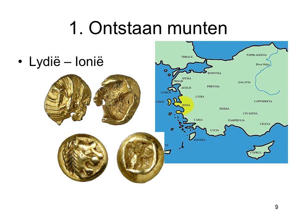 1. Ontstaan munten Lydië – Ionië 9