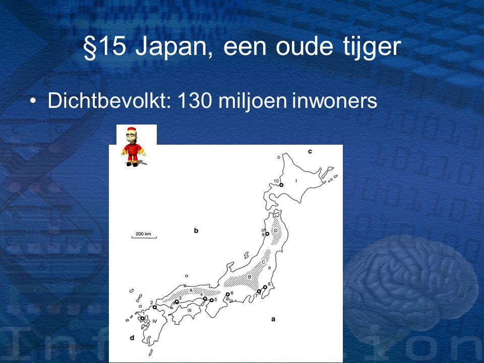 §15 Japan, een oude tijger Dichtbevolkt: 130 miljoen inwoners