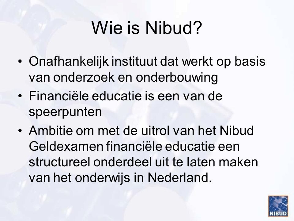 Wie is Nibud.