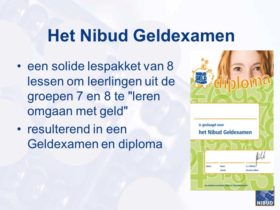 Het Nibud Geldexamen een solide lespakket van 8 lessen om leerlingen uit de groepen 7 en 8 te