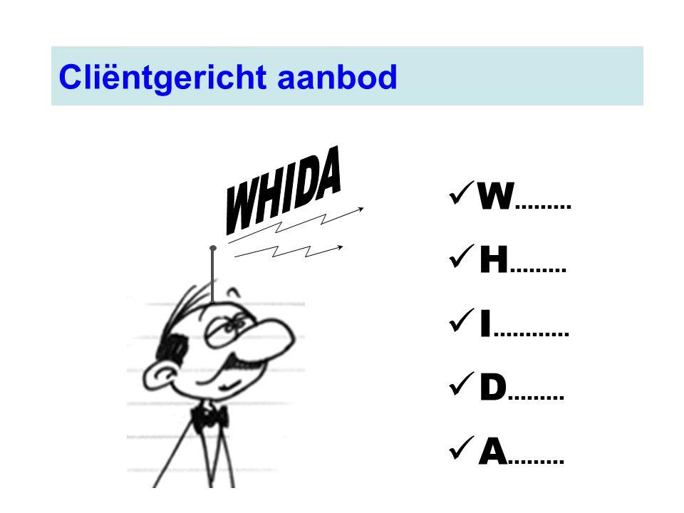 W ……… H ……… I ………... D ……… A ……… Cliëntgericht aanbod