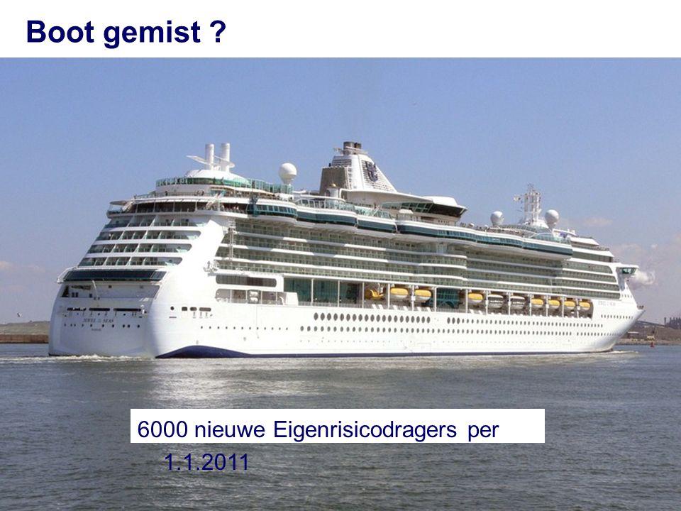 35 Boot gemist ? 6000 nieuwe Eigenrisicodragers per 1.1.2011